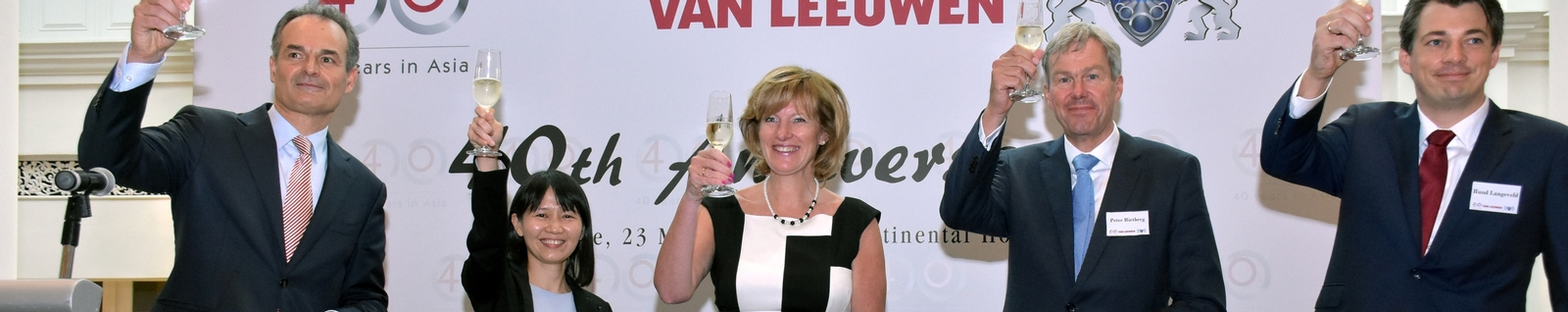 Celebration of 40 years Van Leeuwen in Asia